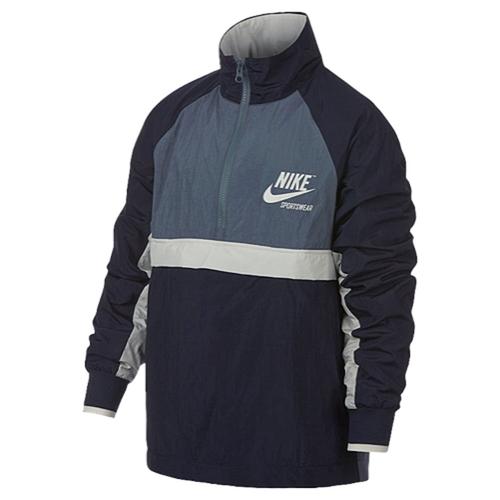 【海外限定】ナイキ ウーブン ジャケット gs(gradeschool) ジュニア キッズ nike archive woven halfzip jacket gsgradeschool