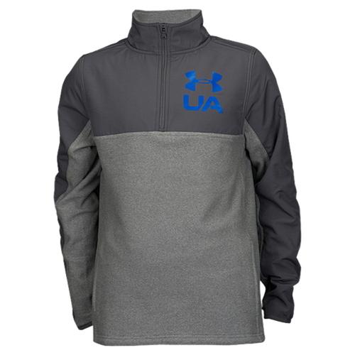 【海外限定】アンダーアーマー 1 4 フリース 男の子用 (小学生 中学生) 子供用 under armour phenom 14 zip fleece crew