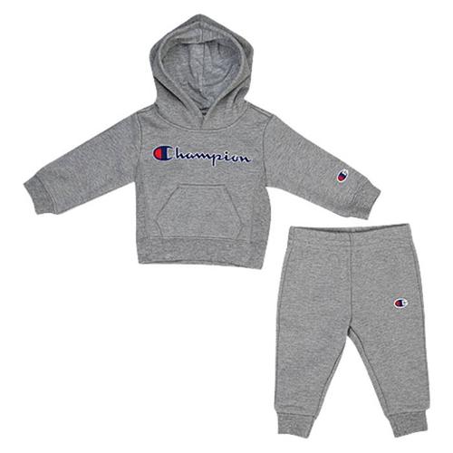 【海外限定】チャンピオン champion フーディー パーカー heritage 2piece hoodie and jogger set boys infant ファッション ベビー服 ベビー キッズ マタニティ セットアップ 上下セット
