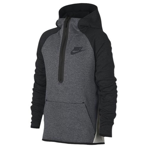 【海外限定】nike tech fleece halfzip pullover hoodie gsgradeschool ナイキ テック フリース フーディー パーカー gs(gradeschool) ジュニア キッズ