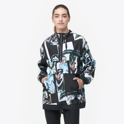 【海外限定】nike ナイキ marble halfzip jacket ジャケット レディース