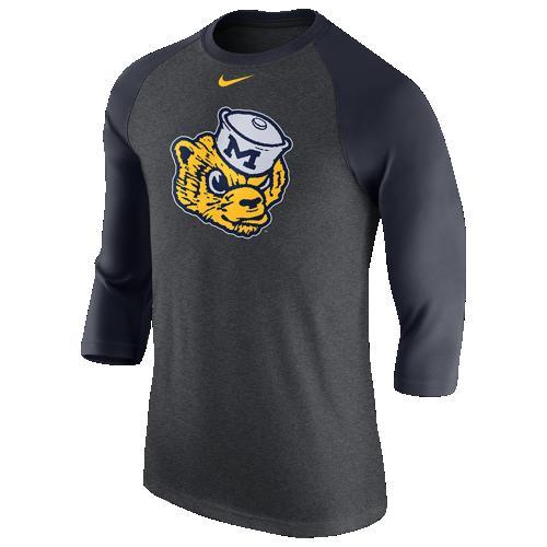 【海外限定】ブレンド blend nike college triblend logo 34 ragan t ナイキ カレッジ ロゴ 3 4 シャツ メンズ