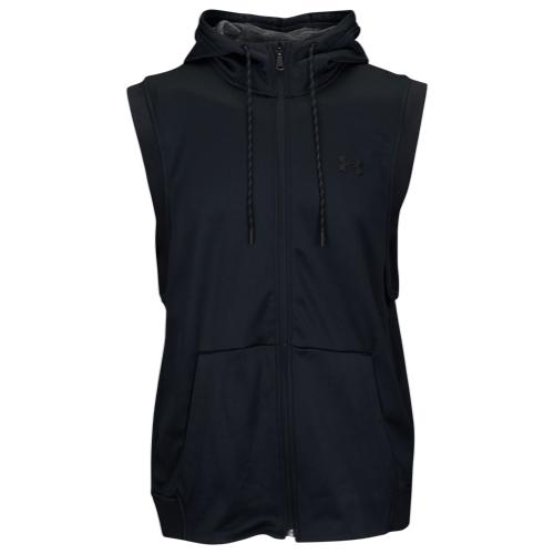 【海外限定】アンダーアーマー フリース s l ノースリーブ スリーブレス フーディー パーカー メンズ under armour fleece full zip sl hoodie