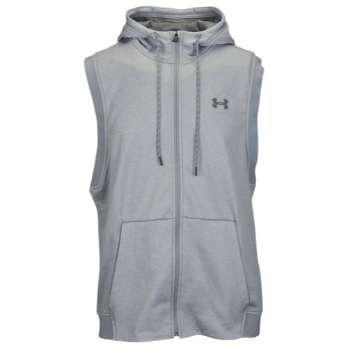 【海外限定】アンダーアーマー フリース s l ノースリーブ スリーブレス フーディー パーカー メンズ under armour fleece full zip sl hoodie スポーツ