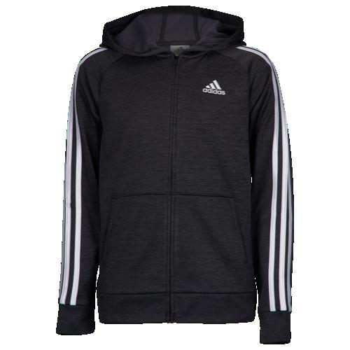 【海外限定】アディダス adidas performance heather 3stripe fz hoodie gsgradeschool パフォーマンス ヘザー f z フーディー パーカー gs(gradeschool) ジュニア キッズ