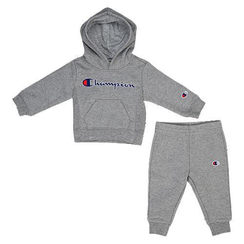 【海外限定】チャンピオン champion フーディー パーカー ベビー 赤ちゃん 幼児 赤ちゃん用 heritage 2piece hoodie and jogger set