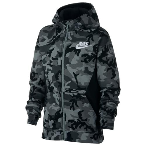 【海外限定】nike camo club fullzip hoodie gsgradeschool ナイキ クラブ フーディー パーカー gs(gradeschool) ジュニア キッズ トレーナー マタニティ