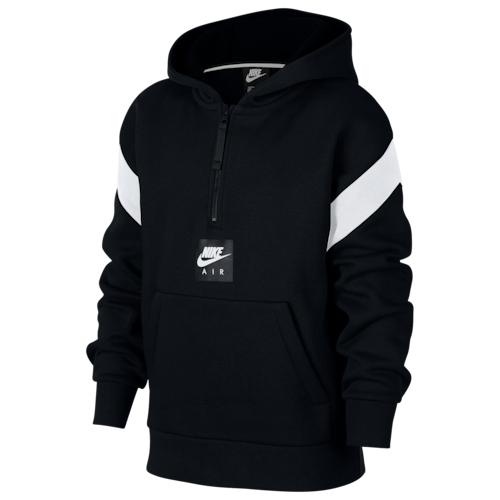 【海外限定】nike ナイキ air エアー halfzip pullover hoodie フーディー パーカー gs(gradeschool) ジュニア キッズ