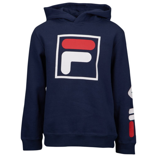【海外限定】フィラ ロゴ フーディー パーカー gs(gradeschool) ジュニア キッズ fila double hit logo hoodie gsgradeschool