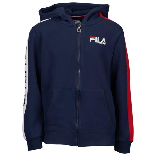 【海外限定】fila heritage taped fullzip hoodie gsgradeschool フィラ フーディー パーカー gs(gradeschool) ジュニア キッズ