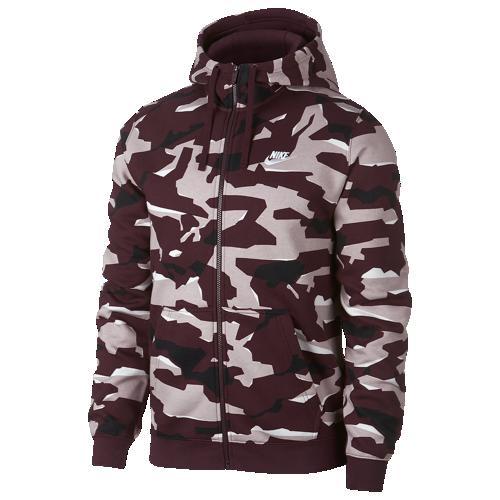 【海外限定】ナイキ クラブ フーディー パーカー メンズ nike club camo fullzip hoodie