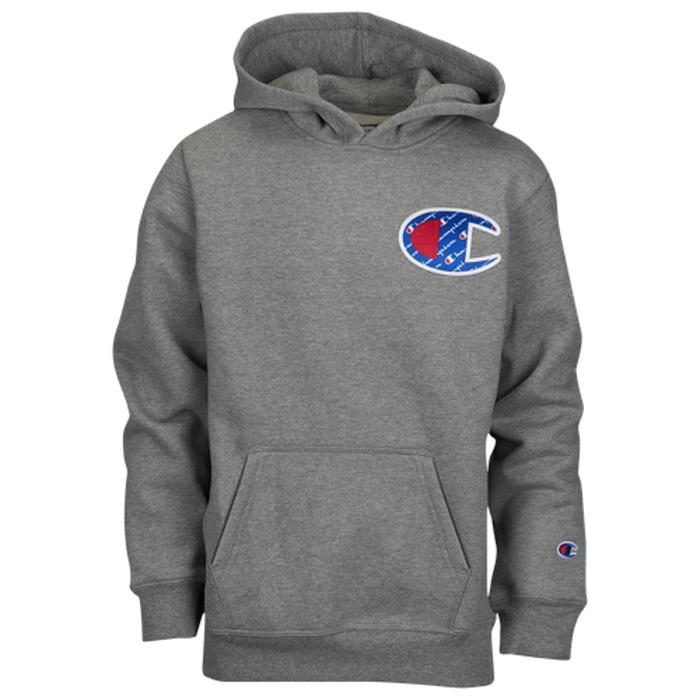 【海外限定】チャンピオン champion sublimated c heritage hoodie フーディー パーカー grade school