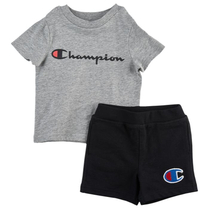 【海外限定】チャンピオン champion ショーツ ハーフパンツ ' heritage 2piece shorts set boys infant