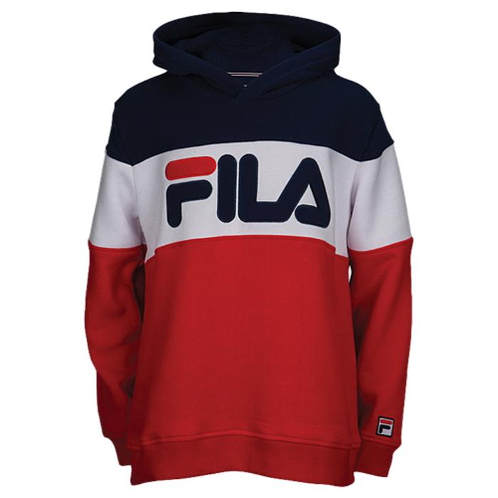 【海外限定】fila colorblock hoodie gsgradeschool フィラ フーディー パーカー gs(gradeschool) ジュニア キッズ