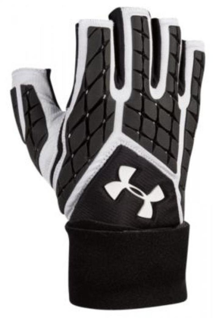 コンバット combat under armour v half finger lineman gloves アンダーアーマー ハーフ gloes メンズ アウトドア スポーツ アメリカンフットボール