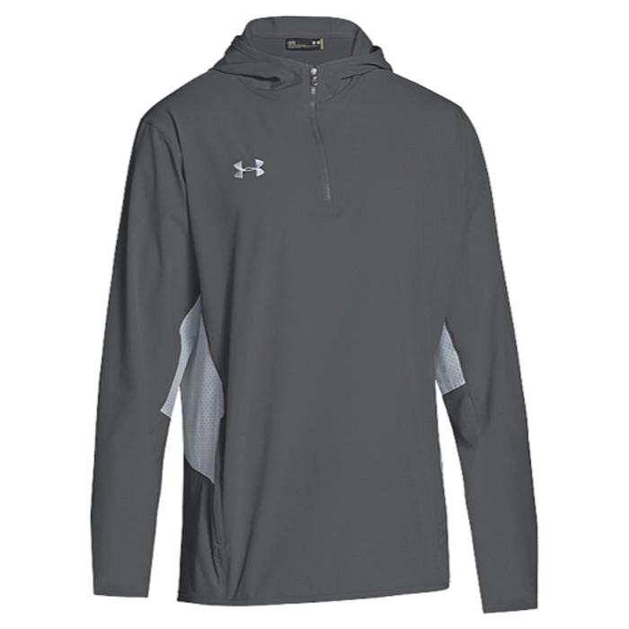 【海外限定】アンダーアーマー チーム ウーブン 1 4 ジャケット メンズ under armour team squad woven 14 zip jacket
