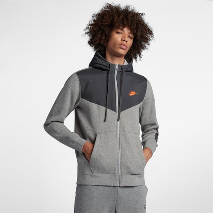 【海外限定】ナイキ フリース フーディー パーカー メンズ nike jdi fleece fullzip hoodie