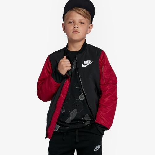 【海外限定】nike ナイキ varsity jacket ジャケット gs(gradeschool) ジュニア キッズ メンズ靴