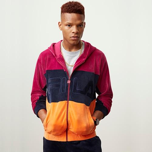 【海外限定】フィラ フーディー パーカー メンズ fila oscar full zip hoodie