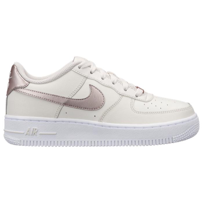 Nike Kids Air Force 1 (GS) WhiteWhiteWhite Basketball Shoe 6