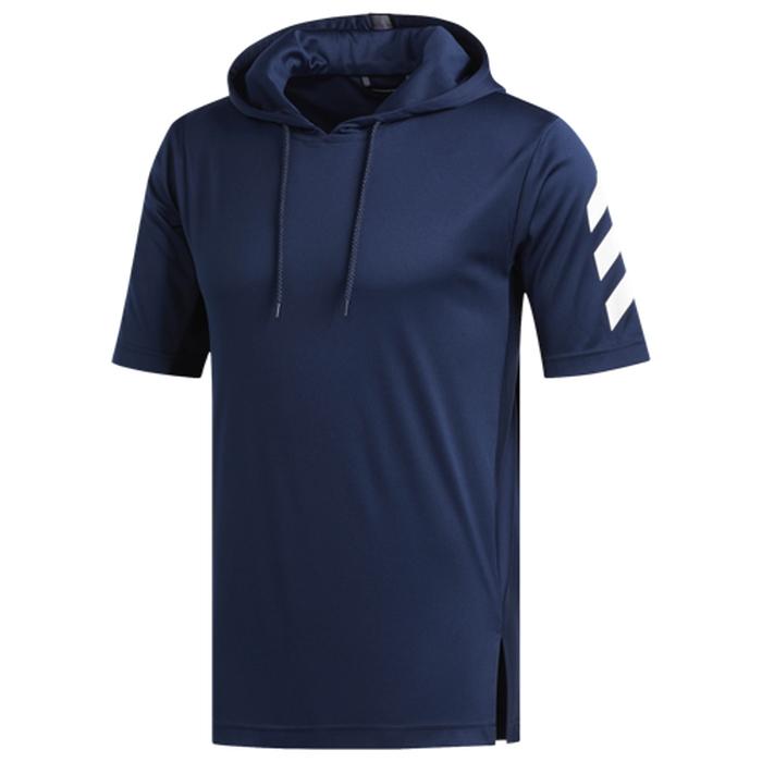 【海外限定】アディダス adidas プロ s 半袖 シャツ フーディー パーカー men's メンズ pro sport ss t hoodie mens