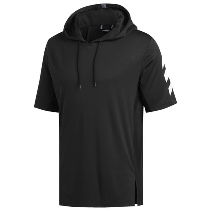 【海外限定】アディダス adidas プロ s 半袖 シャツ フーディー パーカー メンズ pro sport ss t hoodie バスケットボール