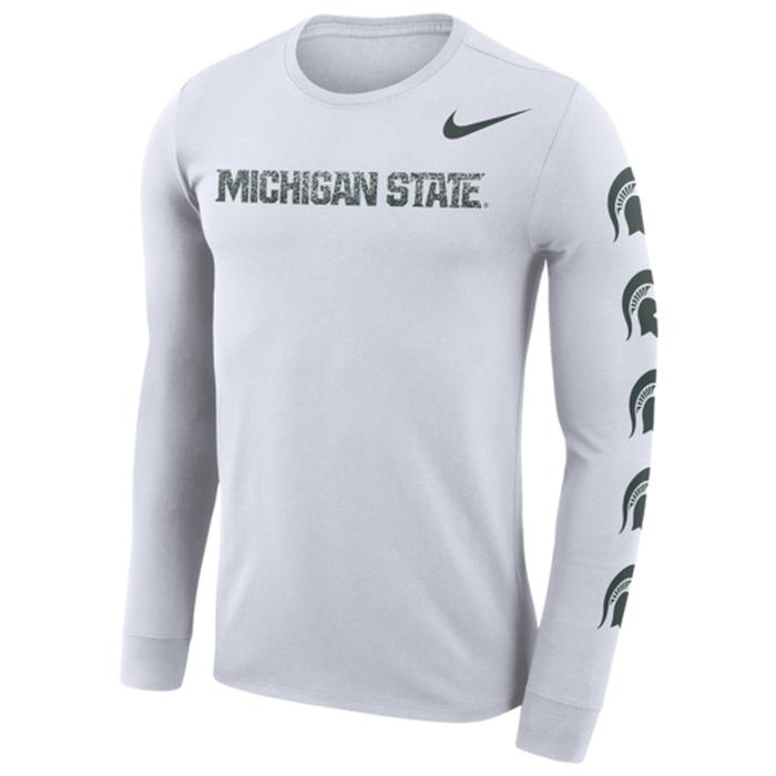ナイキ カレッジ スリーブ ロゴ l s 長袖 ロングスリーブ シャツ men's メンズ nike college df cotton sleeve logo ls t mens