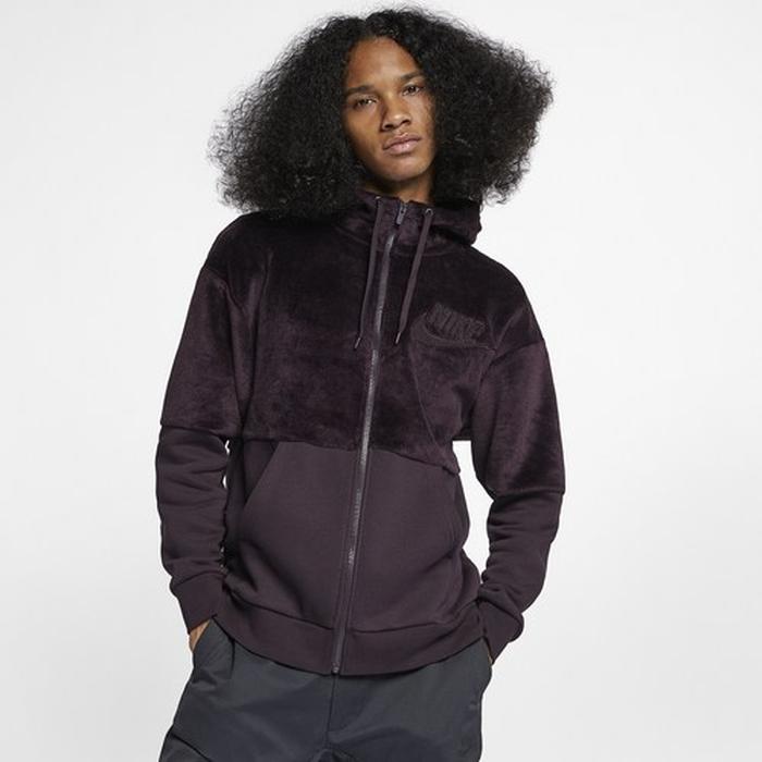 【海外限定】nike ナイキ velour ベロア statement fullzip hoodie フーディー パーカー メンズ