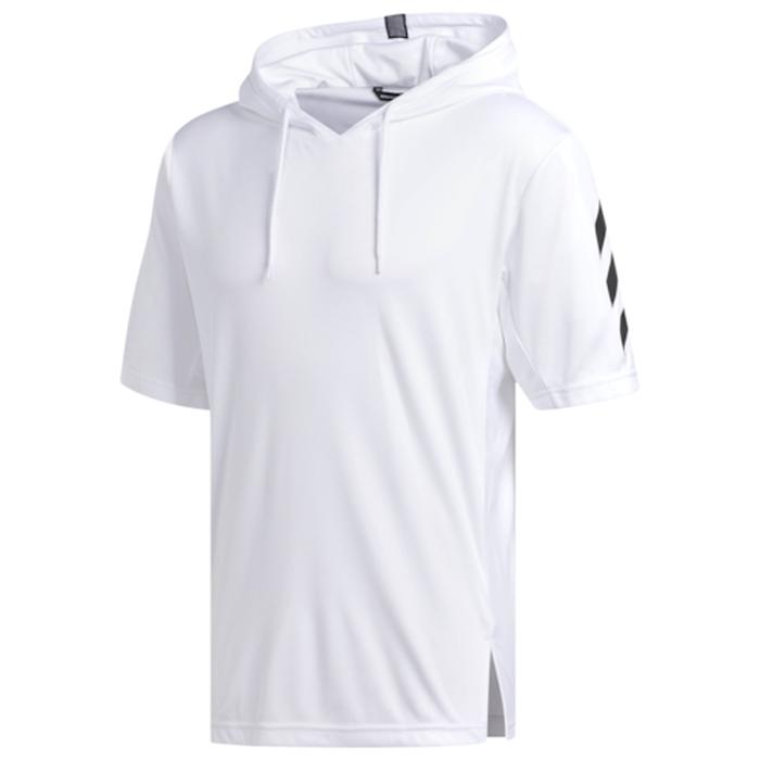【海外限定】アディダス adidas プロ s 半袖 シャツ フーディー パーカー メンズ pro sport ss t hoodie