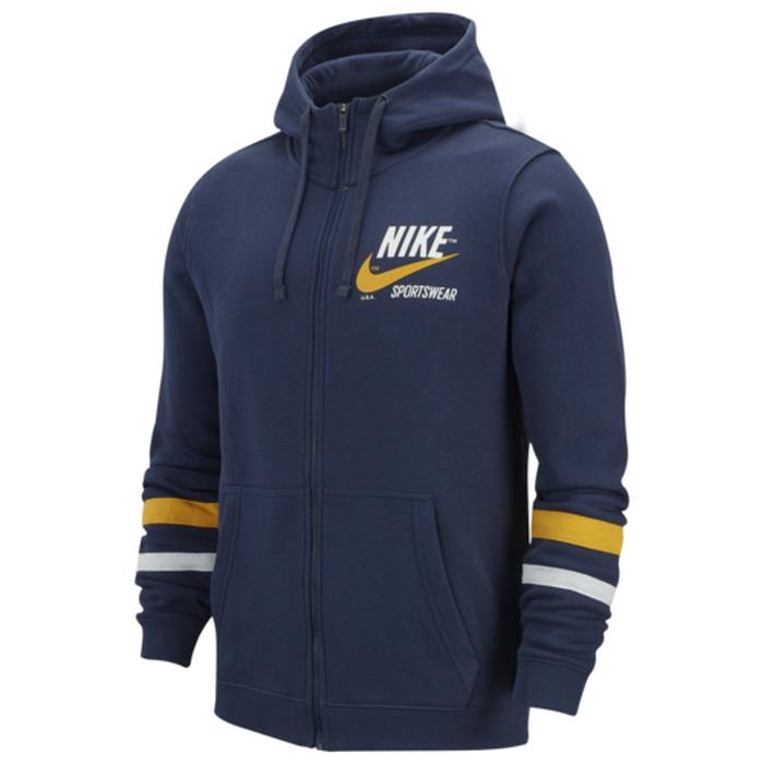 【海外限定】ナイキ クラブ フーディー パーカー men's メンズ nike club varsity fullzip hoodie mens