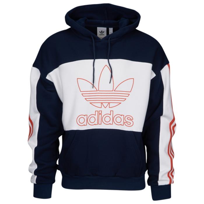 【海外限定】アディダス アディダスオリジナルス adidas originals outline block hoodie オリジナルス フーディー パーカー メンズ