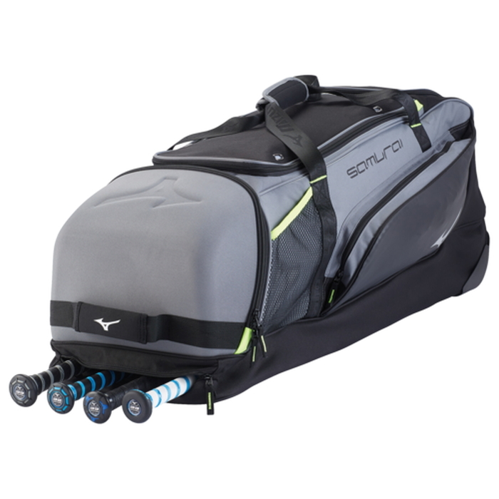 【海外限定】バッグ mizuno samurai catchers wheel bag