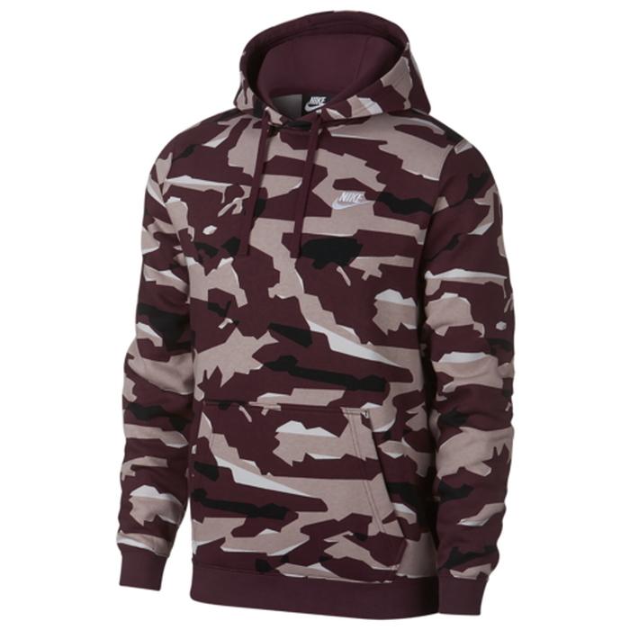 【海外限定】ナイキ クラブ フーディー パーカー メンズ nike club camo pullover hoodie