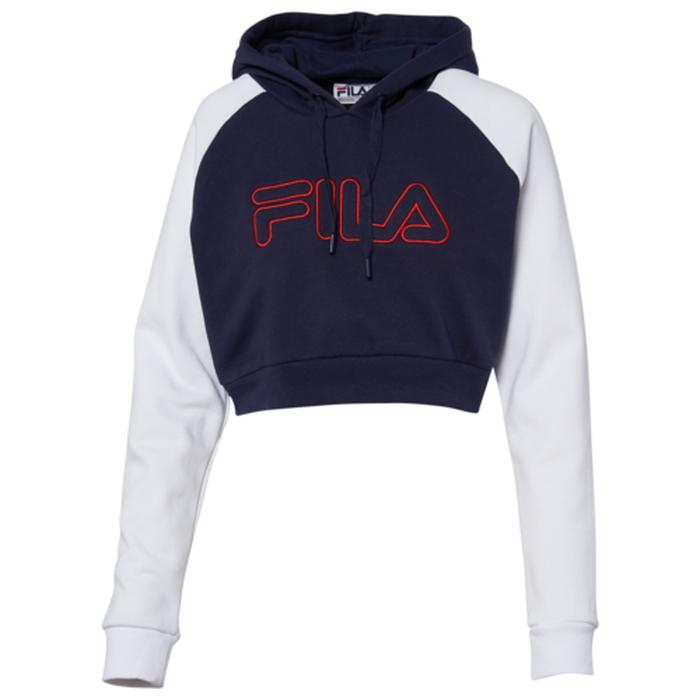 【海外限定】フィラ フーディー パーカー レディース fila valeria embroidered hoodie