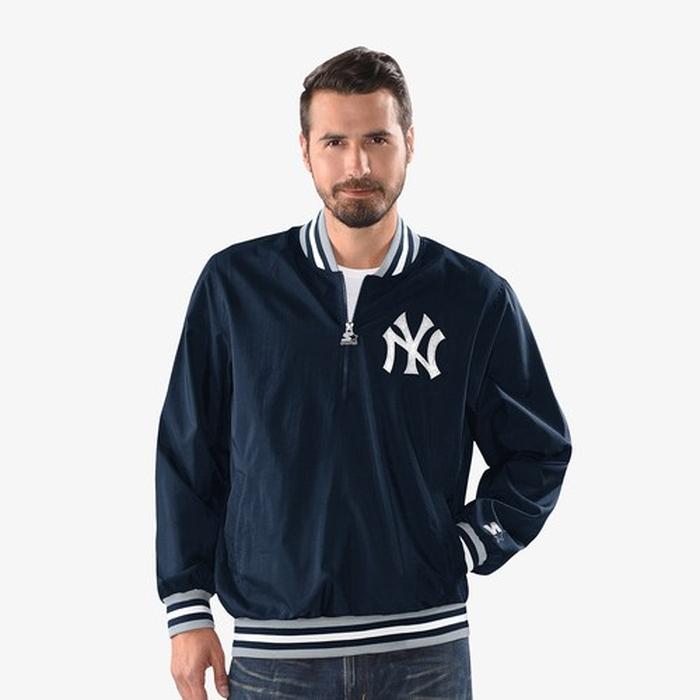 【海外限定】1 2 ジャケット メンズ starter mlb jet 12 zip hooded po jacket