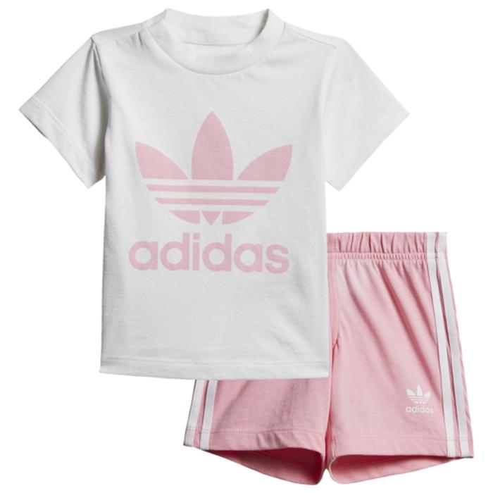 【海外限定】アディダス アディダスオリジナルス adidas originals shorts t set girls infant オリジナルス ショーツ ハーフパンツ & シャツ se infan