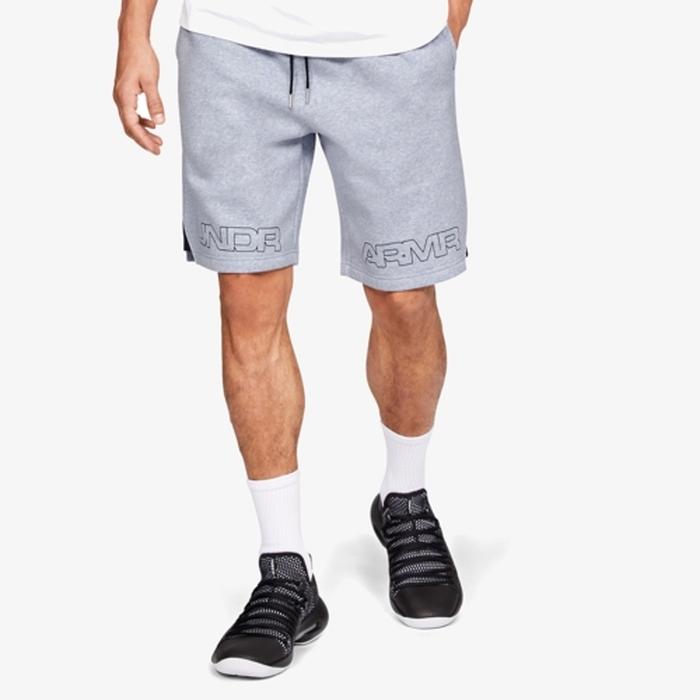 【海外限定】under armour baseline graphic fleece shorts mens アンダーアーマー バセリン グラフィック フリース ショーツ ハーフパンツ men's メンズ