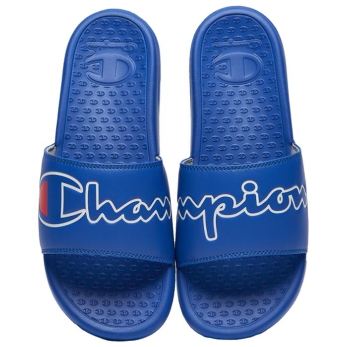 チャンピオン CHAMPION サンダル スクリプト MENS メンズ SUPER SLIDE SPLIT SCRIPT スポーツサンダルnOPk0w