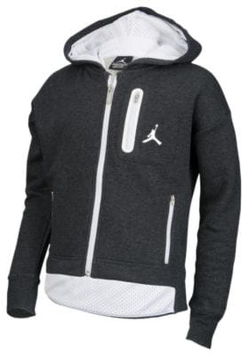 【海外限定】jordan ジョーダン cropped fleece フリース hoodie フーディー パーカー 女の子用 (小学生 中学生) 子供用 トップス