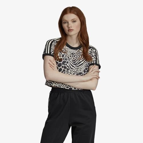 アディダス アディダスオリジナルス アニマル ADIDAS ORIGINALS ANIMAL オリジナルス シャツ WOMENS レディース PRINT CROPPED T Tシャツ レディースファッション カットソー トップス 送料無料