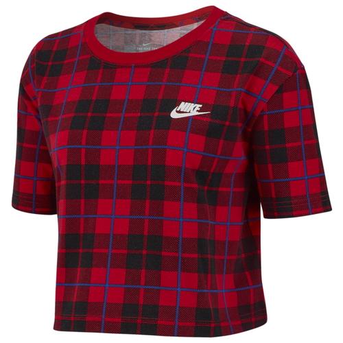 ナイキ NIKE クロップ シャツ WOMENS レディース PLAID FUTURA CROP T Tシャツ レディースファッション カットソー トップス 送料無料