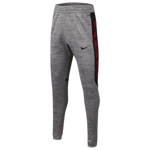 Nike Boys Dri-Fit Therma Fleece Sweatpants Heather Grey Black BV3797-056
