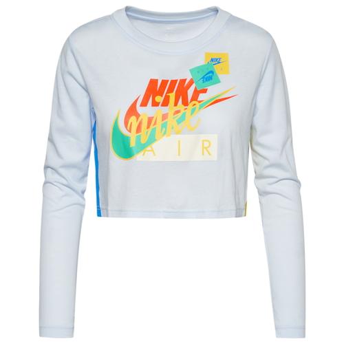 ナイキ NIKE スリーブ クロップ シャツ WOMENS レディース AF1 LONG SLEEVE CROP T トップス Tシャツ レディースファッション カットソー
