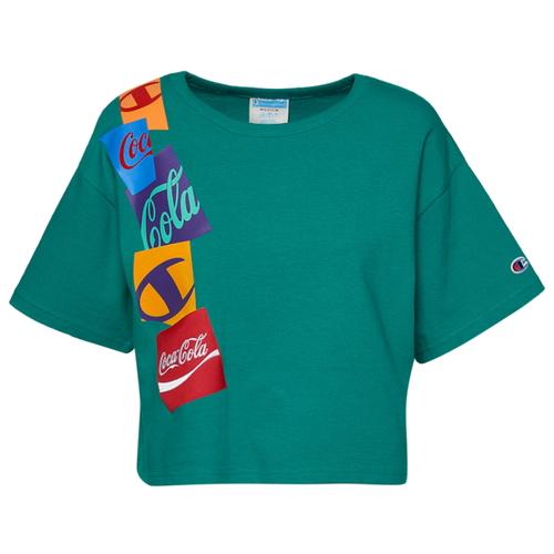 チャンピオン CHAMPION シャツ WOMENS レディース COCACOLA CROPPED T トップス レディースファッション Tシャツ カットソー