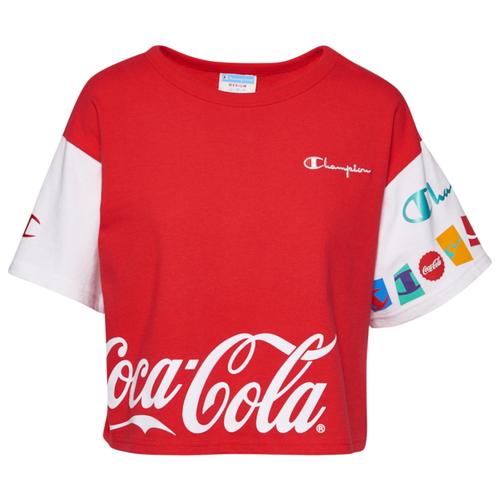 チャンピオン CHAMPION シャツ WOMENS レディース COCACOLA CROPPED T レディースファッション カットソー Tシャツ トップス