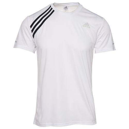 アディダス ADIDAS ラン ストライプ シャツ MENS メンズ RUN IT 3 STRIPE T ジョギング スポーツ マラソン アウトドア