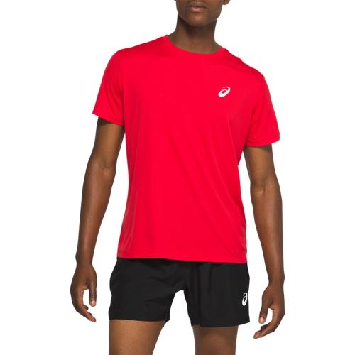 アシックス ASICS 銀色 シルバー スリーブ シャツ MENS メンズ SILVER SHORT SLEEVE T ジョギング スポーツ アウトドア マラソン