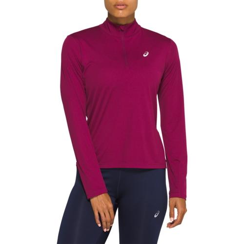 アシックス ASICS 銀色 シルバー スリーブ 1 2 WOMENS レディース SILVER LONG SLEEVE 12 ZIP トップス アウトドア フィットネス スポーツ トレーニング