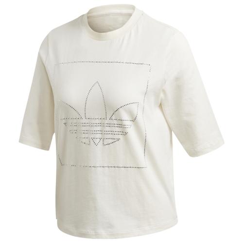 アディダス アディダスオリジナルス ADIDAS ORIGINALS シャツ WOMENS レディース FAEKT RHINESTONE T レディースファッション トップス カットソー Tシャツ 送料無料