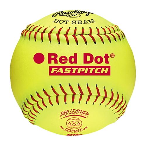 【海外限定】rawlings red dot asanfhs fastpitch softballs ローリングス 赤 レッド asa nfhs レディース